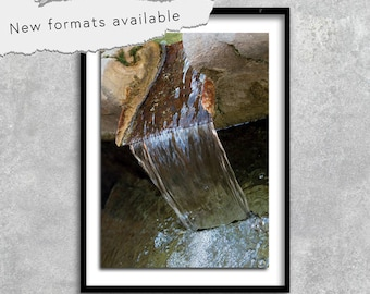 poster photography fountain provence france poster printable instant download A1 A2 A3 A4 A5 16 x 20 18 x 24 24 x 36 50 x 70 60 x 90