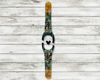 Bounty Hunter MagicBand Decal | MagicBand Decals 1.0 or 2.0 size | Magic Band Decal | Glitter Magic Band Skin | RTS Ready To Ship