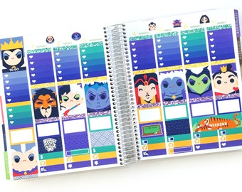 Fairytale Villains Planner Stickers Weekly Kit - For use with Erin Condren Vertical Lifeplanner