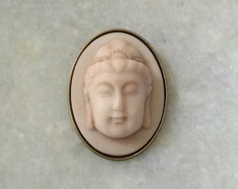 Zen Jewelry, Buddha Jewelry, Buddha Cameo Brooch, Zen, Yoga Jewelry, Religious, Buddha image, Boho Jewelry