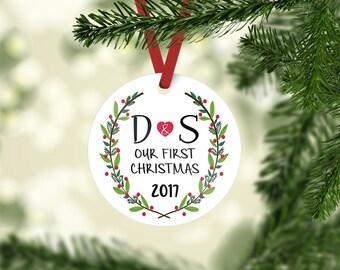 Christmas ornament / first Christmas / personalized / our first Christmas / ornament / initial ornament / custom ornament / Christmas gift