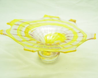 Chihully Style Splatter Platter  Subtle Pink and Yellow