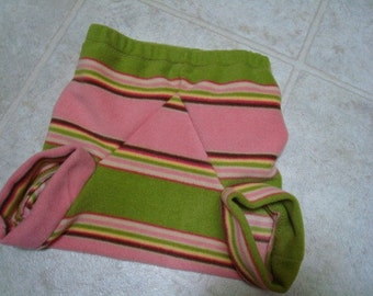 Toddler or Baby Girl's Funky Fleece Shortie Diaper Cover - Vermont 890