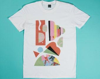 White t-shirt - Colour Wheel