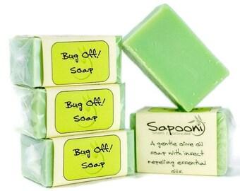 Bug Off! Handmade Soap. Citronella soap. Insect repellent soap. Natural soap. Bar soap.