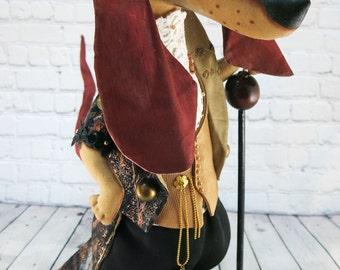 """Dachshund doll 16,5"""",lord,Interior doll,OOAK art doll,dog doll,soft sculpture dachshund,dog animal decor,dachshund gift,buddy dog,dogs"""