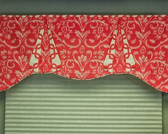 "Custom Valance CASEY Hidden Rod Pocket® Valance, fits 30"" - 44"" window, made to order using your fabrics, my LABOR and lining"