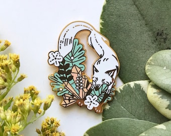 Pastel Fox Wonderland Enamel Pin / Hat Pin / Lapel Pin