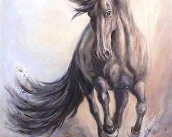 Original Fine Art Horse Painting-Large Canvas-in oil on canvas of 'Majestic Dancer'