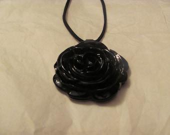 Black Rose Necklace