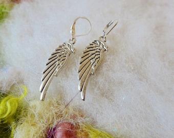 Remembrance Earrings Silver Wings Angel Wings Fairy Wings Love Wings Small Light Weight Earrings Fun Whimsical Jewelry