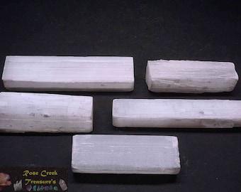 Selenite Sticks 1/2 Lb White Gypsum
