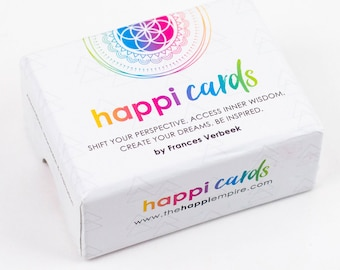 Happi Cards, inspiring affirmations and quotes, oracle cards, positive gift,