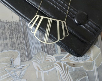 COLETTE_Geometric Art Deco/Gatsby style statement necklace