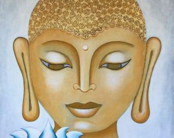 Buddha & Lotus 20 - Original Painting