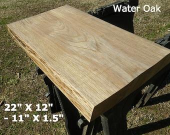 Live Edge Finished Water Oak Wood Slab, DIY Floating Shelf, Natural Edge  Shelving,