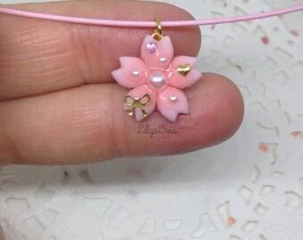 Choker - Petite cherry blossom necklace