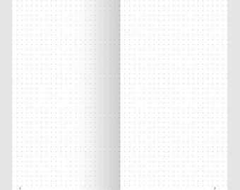 Bullet Journal DOT Grid - Traveler's Notebook Printable Insert - BuJo Format - Printable Regular Size TN Printable Planner