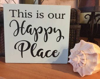 Happy Place shelf sitter block