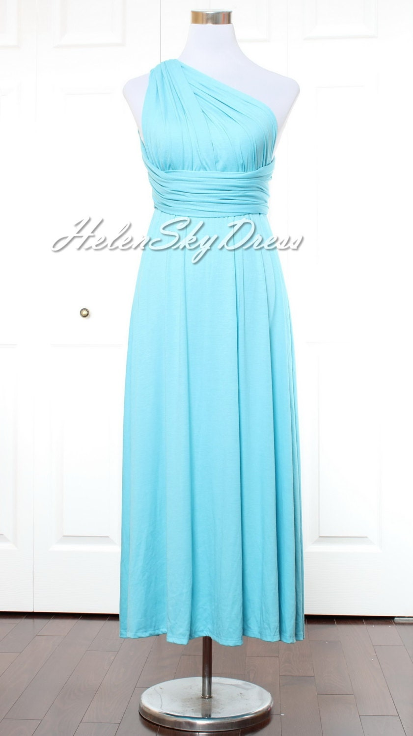 Bridesmaid dress infinity dress light blue wrap convertible zoom ombrellifo Images