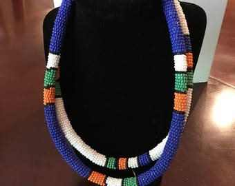 Bead rod necklaces and matching bracelets