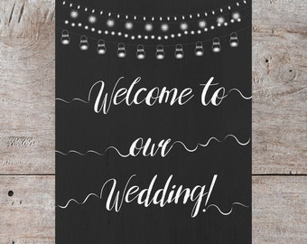 Welcome to our Wedding, Welcome to our Wedding Sign, Welcome to our Wedding Printable, Welcome Poster, Wedding Decor, Wedding Printable