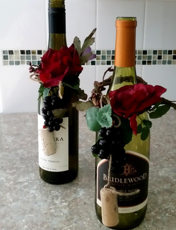 zoom Burgundy Wedding Centerpieces Wine Bottle toppers