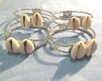 Sliver cowry shells bracelets