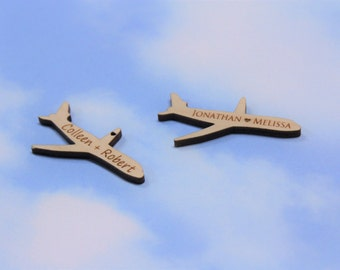 Personalized plane etsy airplane favor tags jet plane birthday party favors personalized airplane negle Gallery
