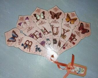 Small fan laminated romantic decoration