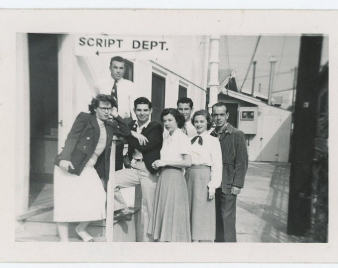 Vintage Snapshot Photo: Script Dept. c1940s (69503)