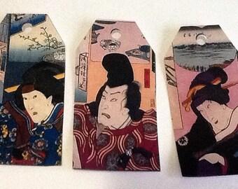 10 Japanese Men & Women Gift/Thank You Tags
