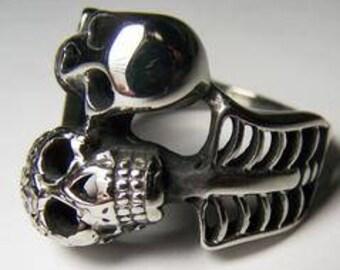 Skeleton Ring Wrapped Around