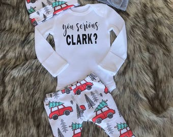 You serious Clark / Christmas outfit / Christmas vacation leggings / Christmas outfit / baby outfit / hospital outfit / unisex  legging