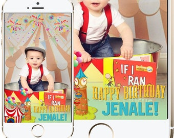 Snapchat GeoFilters, Birthday Snapchat Filters, Custom Snapchat Filter, Circus Snapchat GeoFilter, Circus Birthday Party, Carnival Filter