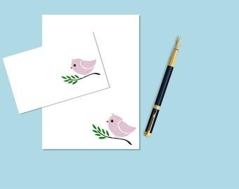 Bird printable stationary, printable stationery, printable letter paper, downloadable stationary, downloadable stationery, journal pages