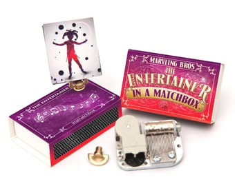 Make Your Own Music Box In A Matchbox, Craft kits For Kids, Music Box Movement, Stocking Filler, Gifts For Kids, Gift For Her, Gift For Mum
