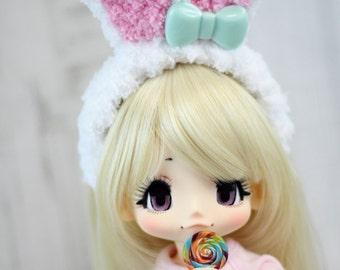 Kikipop Bunny Ears Headband, Kinokojuice Rabbit Ears Hair Accessory