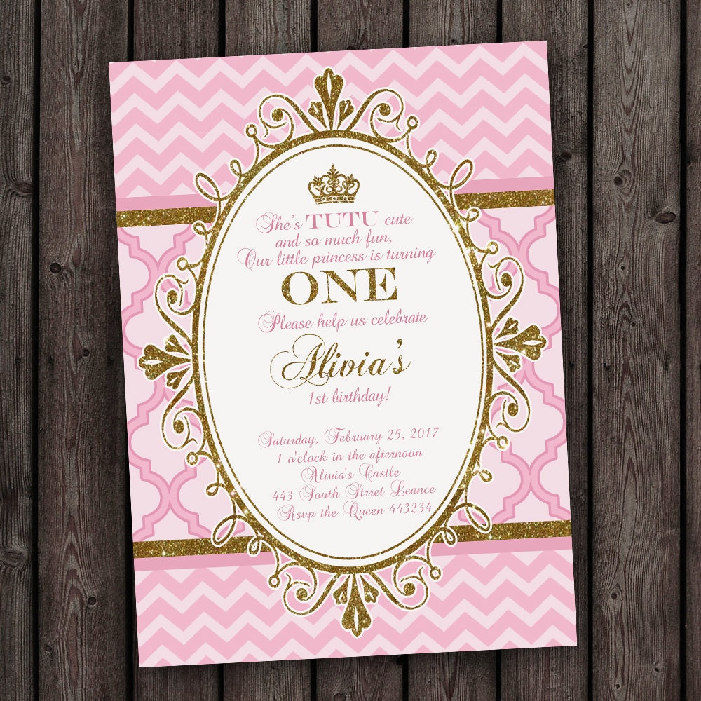 Princess 1St Birthday Party Invitation Wording - drive ...
