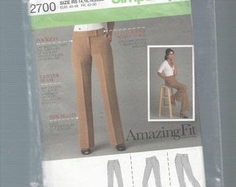 Simplicity 2700 Misses Pants Size 14-22
