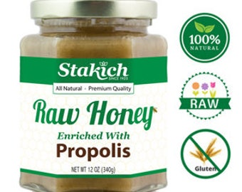 Propolis Enriched Raw Honey