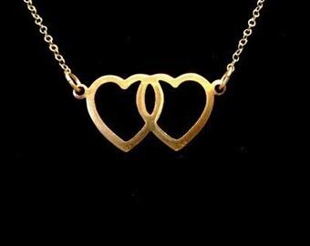 Secret Lovers - Double Heart Necklace
