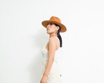 Fedora wool merino  fedora- wool beanie hat-merino wool hat- wool hat womens-black fedora hat