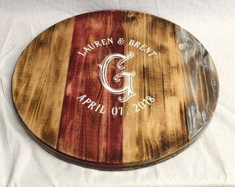 Personalized Lazy Susan, Wedding Gift, Housewarming Gift, Mothers Day Gift, Rustic Lazy Susan, Lazy Susan, Custom Turntable, Home Decor