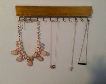 Wall Mount Necklace Holder-- Bar Necklace Holder-- Jewelry Organizer