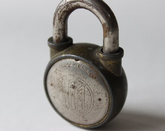 Padlock Vintage 101 Padlock Made in the USA Antique Padlock Old Padlock Heavy Paperweight