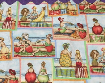 Fruity Beach Print Accent Towel . REDUCED PRICE!!