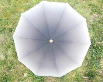 Vintage Gray Kobold Umbrella Orange Fading  Umbrella Retro Rain Or Sun Umbrella Vintage Parasol