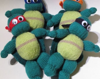 Teenage Mutant Ninja Turtles Knitting Pattern to Knit Action Heroes