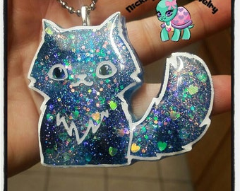Cute Kitty cat resin necklace